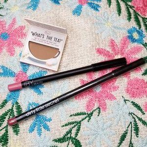 Makeup Bundle! The Balm Eyeshadow, 2 Lip Liners